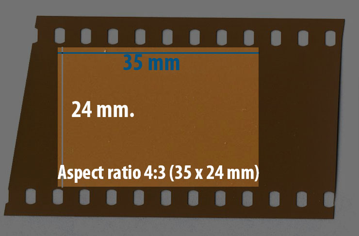 35 mm film or slide. Aspect ratio 4:3 (35x24 mm)
