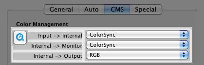 Color management section