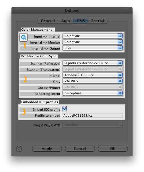 Color management system components