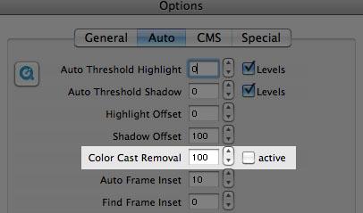 Auto color cast removal